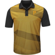 Majestic Men's Pittsburgh Pirates Cool Base Gold/Black Late Night Prize Polo