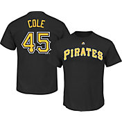 Majestic Men's Pittsburgh Pirates Gerrit Cole #45 Black T-Shirt