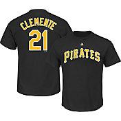 Majestic Men's Pittsburgh Pirates Roberto Clemente #21 Black T-Shirt