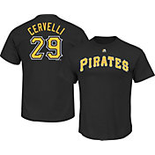Majestic Men's Pittsburgh Pirates Francisco Cervelli #29 Black T-Shirt