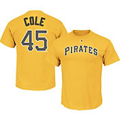 Majestic Triple Peak Men's Pittsburgh Pirates Gerrit Cole Gold T-Shirt