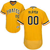 Majestic Men's Full Roster Authentic Pittsburgh Pirates Flex Base Alternate Gold On-Field Jersey