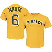 Majestic Triple Peak Men's Pittsburgh Pirates Starling Marte #6 Gold T-Shirt