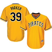Majestic Men's Replica Pittsburgh Pirates Dave Parker #39 Cool Base Alternate Gold Jersey