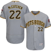 Majestic Men's Authentic Pittsburgh Pirates Andrew McCutchen #22 Road Grey Flex Base On-Field Jersey