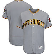 Majestic Men's Authentic Pittsburgh Pirates Road Grey Flex Base On-Field Jersey