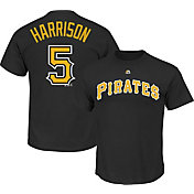 Majestic Triple Peak Men's Pittsburgh Pirates Josh Harrison Black T-Shirt