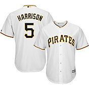 Majestic Men's Replica Pittsburgh Pirates Josh Harrison #5 Cool Base Home White Jersey