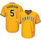Majestic Men's Replica Pittsburgh Pirates Josh Harrison #5 Cool Base Alternate Gold Jersey