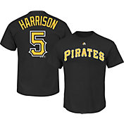 Majestic Men's Pittsburgh Pirates Josh Harrison #5 Black T-Shirt