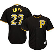 Majestic Men's Replica Pittsburgh Pirates Jung-ho Kang #27 Cool Base Alternate Black Jersey