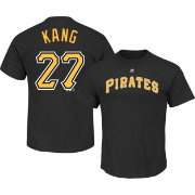 Majestic Men's Pittsburgh Pirates Jung-ho Kang #27 Black T-Shirt