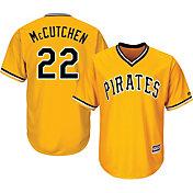 Majestic Men's Replica Pittsburgh Pirates Andrew McCutchen #22 Cool Base Alternate Gold Jersey