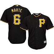 Majestic Men's Replica Pittsburgh Pirates Starling Marte #6 Cool Base Alternate Black Jersey