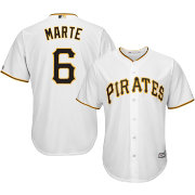 Majestic Men's Replica Pittsburgh Pirates Starling Marte #6 Cool Base Home White Jersey