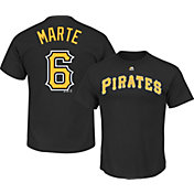 Majestic Men's Pittsburgh Pirates Starling Marte #6 Black T-Shirt