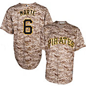 Majestic Men's Replica Pittsburgh Pirates Starling Marte #6 Cool Base Alternate USMC Camo Jersey