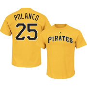 Majestic Men's Pittsburgh Pirates Gregory Polanco #25 Gold T-Shirt