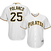 Majestic Men's Replica Pittsburgh Pirates Gregory Polanco #25 Cool Base Home White Jersey