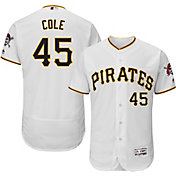 Majestic Men's Authentic Pittsburgh Pirates Gerrit Cole #45 Home White Flex Base On-Field Jersey