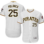 Majestic Men's Authentic Pittsburgh Pirates Gregory Polanco #25 Home White Flex Base On-Field Jersey