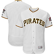 Majestic Men's Authentic Pittsburgh Pirates Home White Flex Base On-Field Jersey