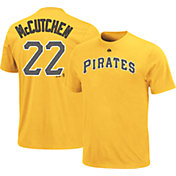 Majestic Triple Peak Men's Pittsburgh Pirates Andrew McCutchen Gold T-Shirt