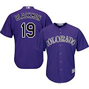 Majestic Men's Replica Colorado Rockies Charlie Blackmon #19 Cool Base Alternate Purple Jersey