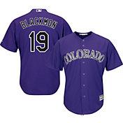 Majestic Men's Replica Colorado Rockies Charlie Blackmon #19 Cool Base Alternate Purple Jersey