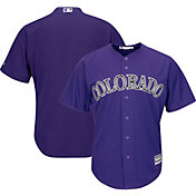 Majestic Men's Replica Colorado Rockies Blank #X Cool Base Alternate Purple Jersey