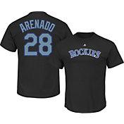Majestic Men's Colorado Rockies Nolan Arenado #28 Black T-Shirt