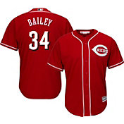 Majestic Men's Replica Cincinnati Reds Homer Bailey #34 Cool Base Alternate Red Jersey