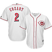 Majestic Men's Replica Cincinnati Reds Zack Cozart #2 Cool Base Home White Jersey
