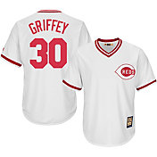 Majestic Men's Replica Cincinnati Reds Ken Griffey Sr. Cool Base White Cooperstown Jersey