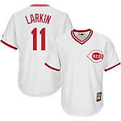 Majestic Men's Replica Cincinnati Reds Barry Larkin Cool Base White Cooperstown Jersey