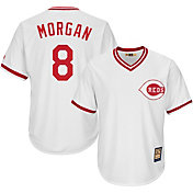 Majestic Men's Replica Cincinnati Reds Joe Morgan Cool Base White Cooperstown Jersey