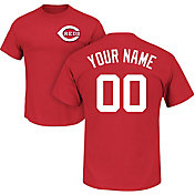 Majestic Men's Custom Cincinnati Reds Red T-Shirt