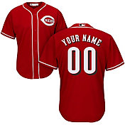 Majestic Men's Custom Cool Base Replica Cincinnati Reds Alternate Red Jersey