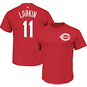 Majestic Triple Peak Men's Cincinnati Reds Barry Larkin Red T-Shirt