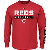 Majestic Men's Cincinnati Reds Proven Pastime Red Long Sleeve Shirt