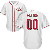 Majestic Men's Full Roster Cool Base Replica Cincinnati Reds Home White Jersey