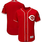 Majestic Men's Authentic Cincinnati Reds Alternate Red Flex Base On-Field Jersey