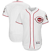 Majestic Men's Authentic Cincinnati Reds Home White Flex Base On-Field Jersey