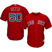 Majestic Men's Replica Boston Red Sox Mookie Betts #50 Cool Base Alternate Red Jersey