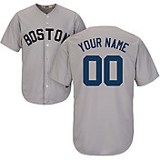 Majestic Men's Custom Cool Base Cooperstown Replica Boston Red Sox 1969 Grey Jersey