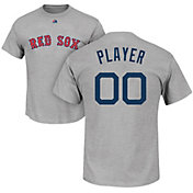 Majestic Men's Full Roster Boston Red Sox Grey T-Shirt