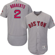 Majestic Men's Authentic Boston Red Sox Xander Bogaerts #2 Road Grey Flex Base On-Field Jersey
