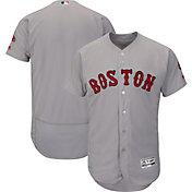 Majestic Men's Authentic Boston Red Sox Road Grey Flex Base On-Field Jersey