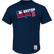 Majestic Men's Boston Red Sox Cool Base Navy Performance T-Shirt