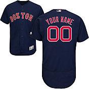 Majestic Men's Custom Authentic Boston Red Sox Flex Base Alternate Navy On-Field Jersey